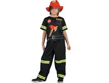 Barndräkt Brandman, Strl 3-5 år, Summertime