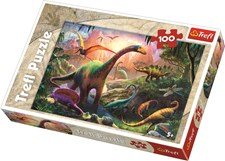Dinosaurenes land, 100 brikker, Trefl