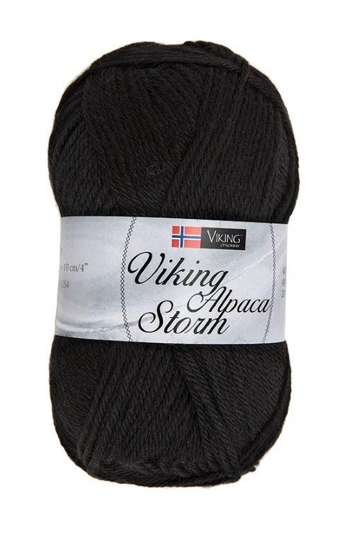 Viking of Norway Alpaca Storm 50 gr Sort 503