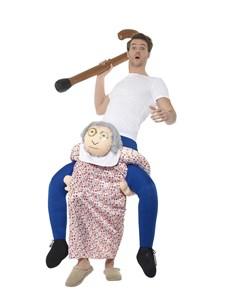 Ratsastava Isoäiti Naamiaisasu