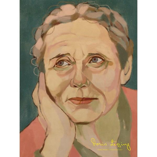 Porträtt Doris Lessing Poster A4  Wonderwall - posters & väggdekoration