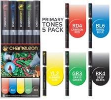 Chameleon 5-pakkaus tussikyniä Primary Tones