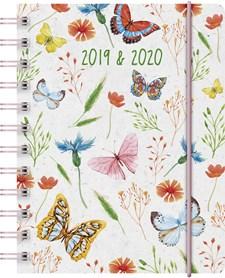 Kalender Almanacksförlaget A6 Butterfly 2019/2020, 18 månaders kalendarium