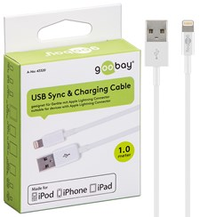 USB Laddarkabel Apple Lighting Vit