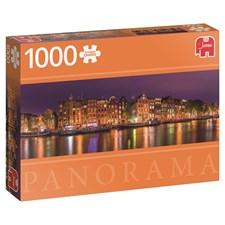 Puslespill, 1000 brikker, Amsterdam, Panorama, Jumbo