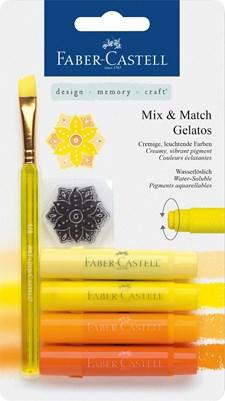 Akvarelliliitu Faber-Castell Gelatos 4 keltaista nyanssia