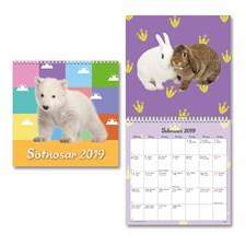 Väggkalender 2019 Burde Sötnosar liten