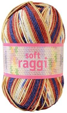 Soft Raggi 100g Blå/Röd print (31209)