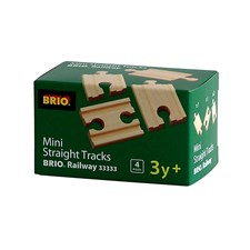 Små, rette skinner (4 stk.), Brio tretog