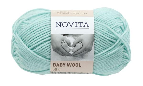 Novita Baby Wool Ullgarn 50 g mynte 309