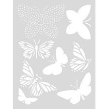 Sjablon Medium, Sommerfugler, 18,5 x 24,5 cm