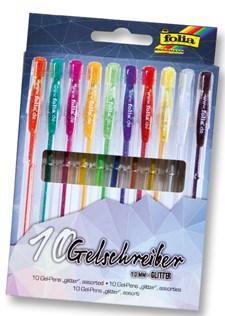Blackstyle gel pennor 10 pennor sorterade färger glitter