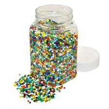 Glassperler, 500 g, Ø 2 mm, Blandede farger, Playbox