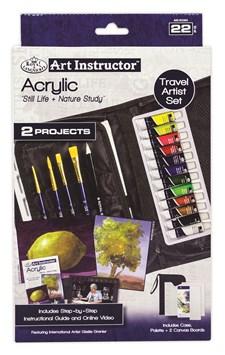Akrylfärg Medelstort Reseset med Online Instruktioner Royal & Langnickel