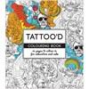 Aikuisten värityskirja, koko 19,5x23 cm,  64 , tatuoinnit, 1kpl