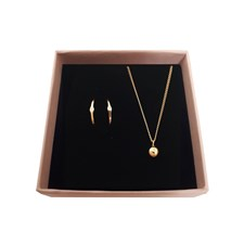Smyckeset Raw Diamond 18karats Guldplätering Giftbox