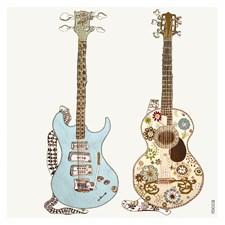 Kortti ja kirjekuori 2 Guitars Black Olive