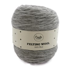 Adlibris Felting Wool 100g Medium Grey Melange A114
