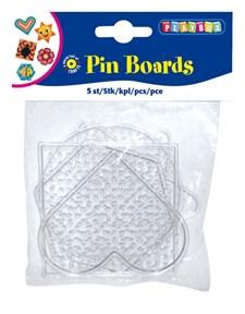 Pärlplattor 5 st små transparenta