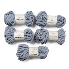 Adlibris Chunky Wool Garn 200g Dusty Blue A006 5-pack