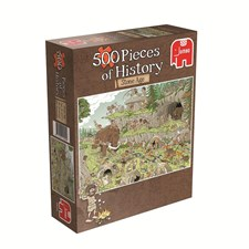 Rob Derk History Puzzle, Stoneage, Pussel 500 bitar
