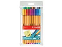 Ritpenna Fineliner Stabilo Point 88 Multi 20-pack