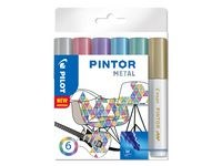 Pintor DIY-tusjer 6 stk. Ass Metal Mix - Fine