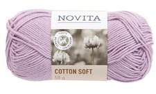 Novita Cotton Soft Garn Bomullgarn 50 g, lavendel 725