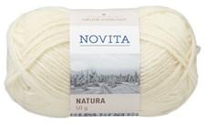 Novita Natura Wool Garn 50g, naturvit 010