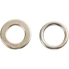 Mellanpärla Ring Mix dia 17 mm Antiksilver 10 st