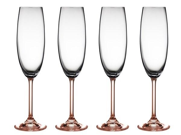 Bitz Champagneglas 22 cl 4-pack rosa (rosa) - glas