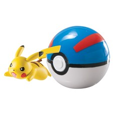 Pokémon, Clip 'n' Carry Ball, Pikachu + Poke Ball