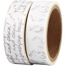 Maskerings tape, B: 15 mm, , kaniner, 2x5m