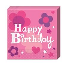 Happy Birthday Rosa, Servetter, 20 st