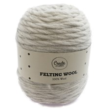 Adlibris Felting Wool 100g Light Grey Melange A113