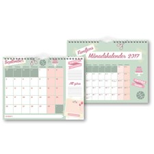 Kalender 2017 Familjens månadskalender Burde
