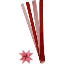 Stjernestrimler, B: 15+25 mm, dia. 6,5+11,5 cm, 40 ass., rød