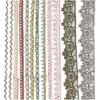 Spetsband 10-25 mm 12x3 m Olika Färger