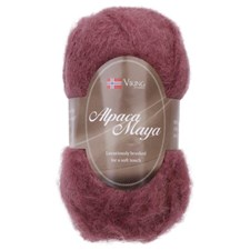 Viking of Norway Alpaca Maya 50 gr Rød brun 758