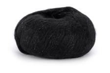 Dale Garn Erle Silk Mohair Mix 50 g Svart med silver 0091