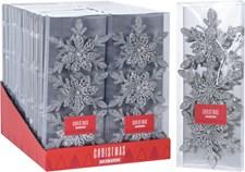 Julgransdekoration, snöflingor, silver