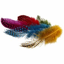 Pärlhönsfjädrar 50 g Olika Färger