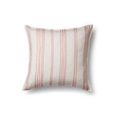 Sköna Hem Stripe Kuddfodral i Linne 50x50 cm Pink/White