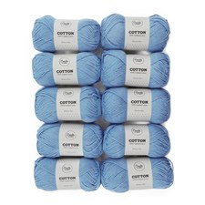 Adlibris Bomull 8/9 Garn 100g Medium Blue A089 10-pack