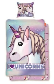 Bäddset Unicorn 150x210 cm, Emoji