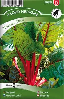 Mangold, Rubarb Chard, röd