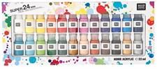 Akrylfärg Mini 24 st