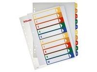 Plastregister 1-10 A4+ Flerfärgad