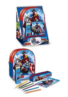 Filled Backpack Set Junior, Avengers