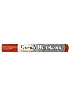 Whiteboardpennor Rund Röd 1 st